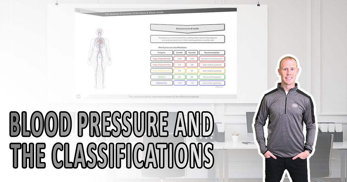 Blood pressure classifications