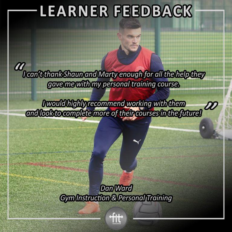 Learner feedback - Dan Ward