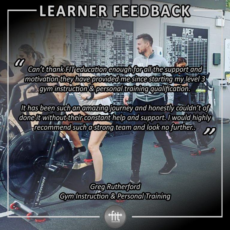 Learner feedback - Greg Rutherford