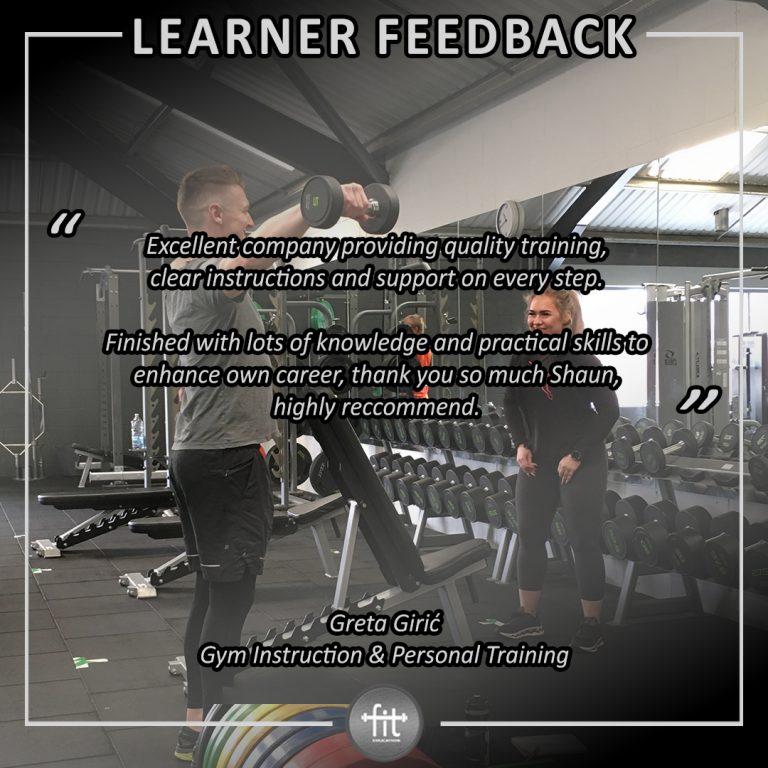 Learner feedback - Greta Girić