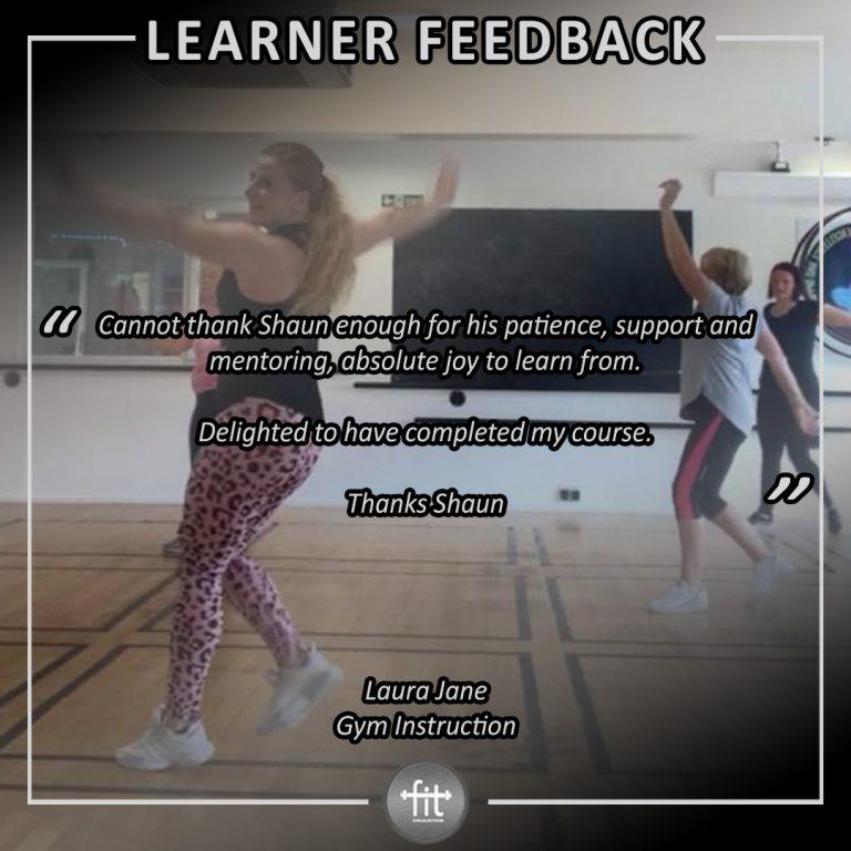 Learner feedback - Laura Jane