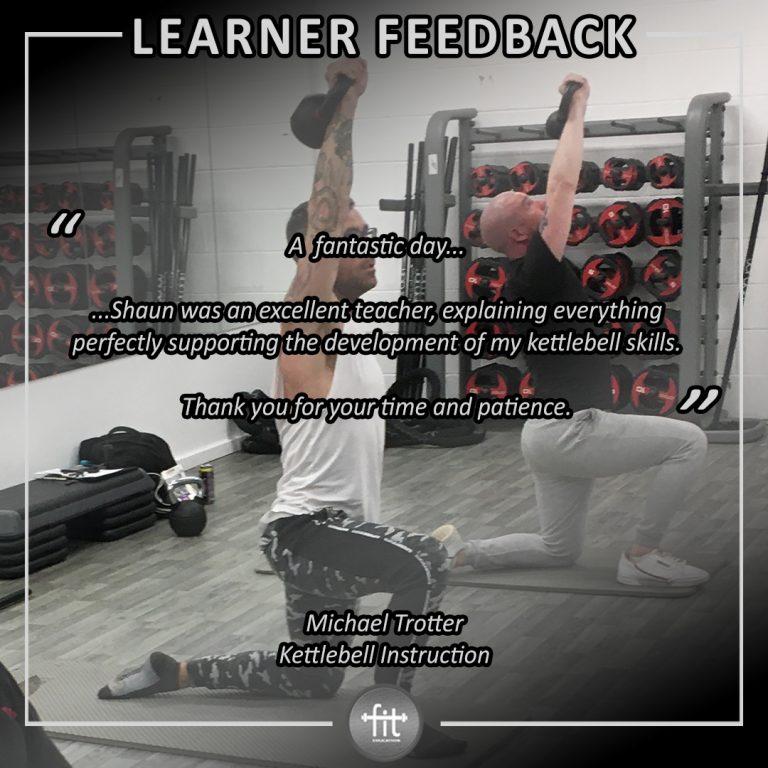 Learner feedback - Michael Trotter