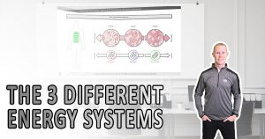 The 3 different energy systems